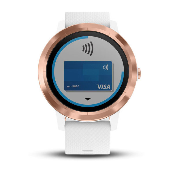 garmin vivoactive 3 white with rose-gold face