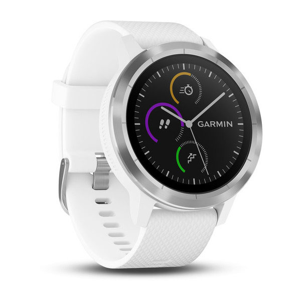 garmin vivoactive 3 white with stainless steel face