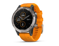 garmin fenix 5 plus sapphire titanium and orange band