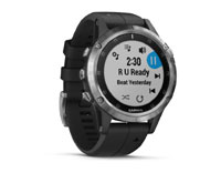 garmin fenis 5 plus silver with black band