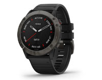 Garmin fenix6X Sapphire - Carbon Gray DLC with Black Band