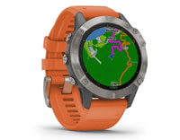 Details for fenix 6 Sapphire - Titanium with Ember Orange Band