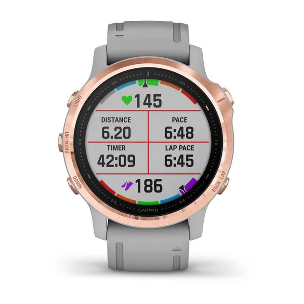 garmin fenix 6s sapphire rose-gold with grey band