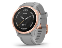 Garmin fenix 6S Sapphire - Rose Gold with Powder Grey Band
