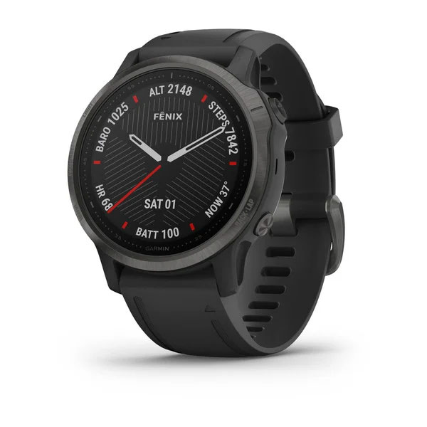 garmin fenix 6s sapphire carbon grey with black band
