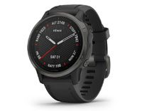 garmin fenix 6s carbon grey with black band