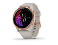 garmin venu venue light sand with rose-gold hardware