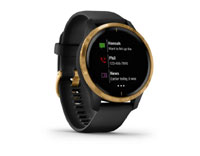 garmin venu black with rose-gold hardware