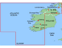 Garmin BlueChart: Ireland, West Coast; Regular EU005R (GDC)