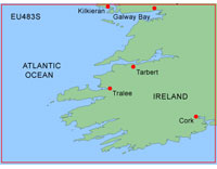 Garmin BlueChart: Galway Bay to Cork; Small EU483S (GDC)