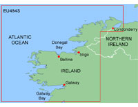 Garmin BlueChart: Ireland North-West; Small EU484S (mSD)